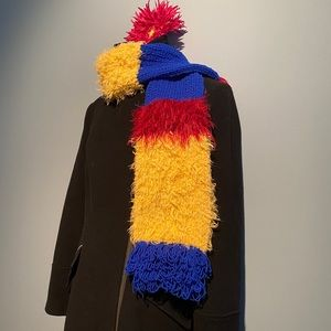 One of a kind color block scarf